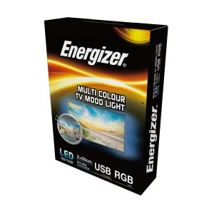 ENERGIZER LED 2 x 50CM RGB FLEXI USB TV STRIPLIGHT 3.2W - COLOUR CHANGING