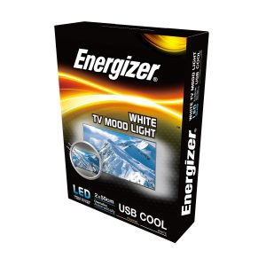 ENERGIZER LED 2 x 50CM WHITE FLEXI USB TV STRIPLIGHT, 2.5W