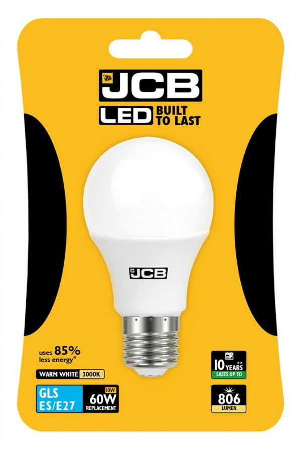 JCB LED GLS 806lm OPAL E27 (ES) 3000K, PACK OF 1