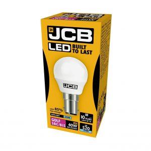 JCB LED GOLF 520lm OPAL B15 (SBC) 6500K, PACK OF 1