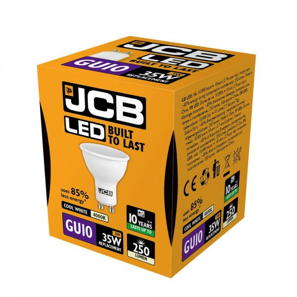 JCB LED GU10 250lm 4000K, PACK OF 1