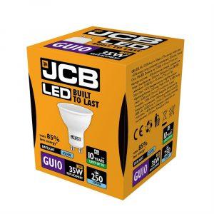 JCB LED GU10 250lm 6500K, PACK OF 1