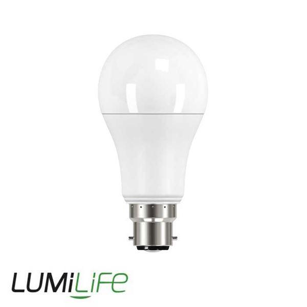 LUMILIFE 13W B22 (BC) GLS LED - 1521 Lumen - Warm White (2700K) - Dimmable