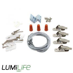 LUMILIFE 1M SUSPENSION KIT FOR LED PANELS X 4