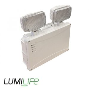 LUMILIFE 2 x 3W LED TWIN-SPOT IP65 NON-MAINTAINED - SELF-TEST