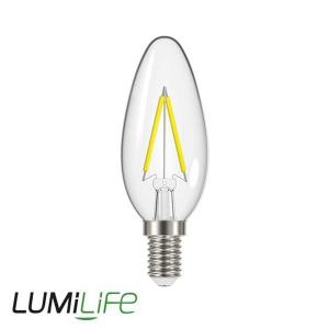 LUMILIFE 2.3W E14 (SES) Candle Filament LED - 250 Lumen - Warm White (2700K)