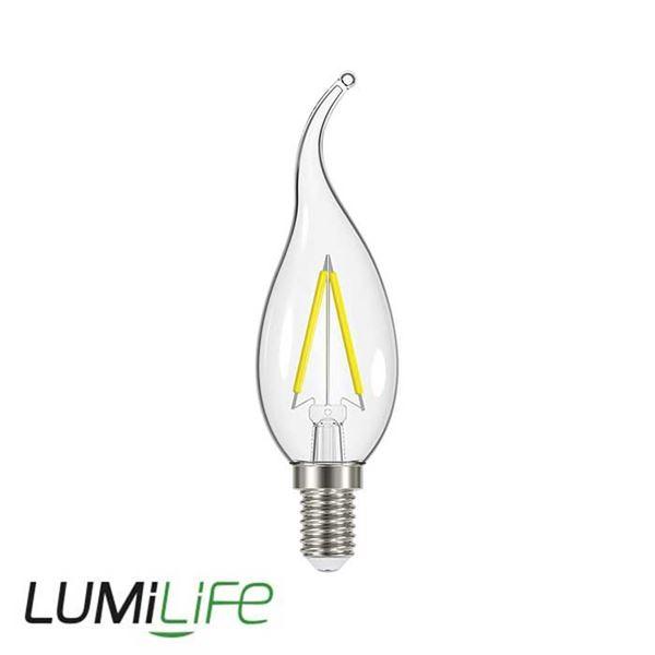 LUMILIFE 2.3W E14 (SES) Flame Tip Filament LED - 250 Lumen - Warm White (2700K)