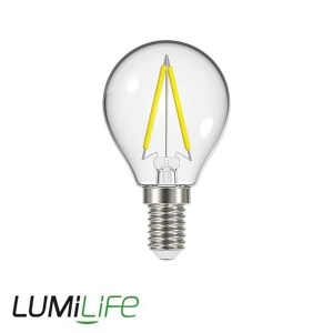 LUMILIFE 2.3W E14 (SES) Golf Filament LED - 250 Lumen - Warm White (2700K)