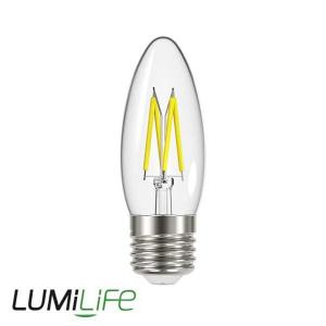 LUMILIFE 4.8W E27 (ES) Candle Filament LED - 450 Lumen - Warm White (2700K) - Dimmable
