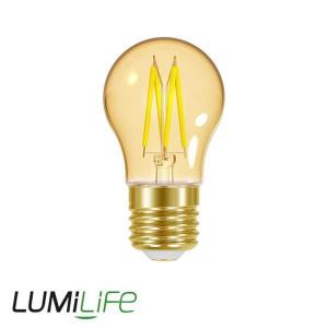 LUMILIFE 4.8W E27 (ES) Golf Filament Amber LED - 300 Lumen - Warm White (2000K) - Dimmable