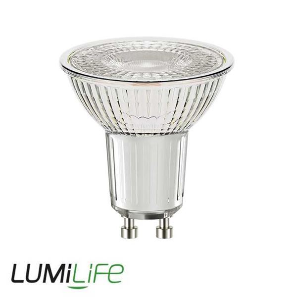 LUMILIFE 4W GLASS GU10 LED SPOTLIGHT - 345 LUMEN - DAYLIGHT