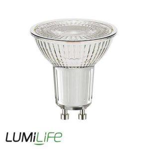 LUMILIFE 4W GLASS GU10 LED SPOTLIGHT - 345 LUMEN - WARM WHITE