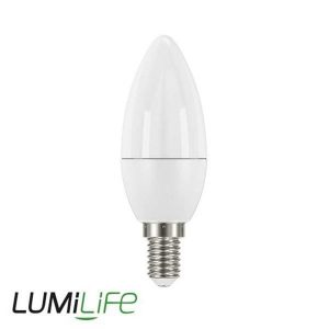 LUMILIFE 5W E14 (SES) CANDLE LED - 470 LUMEN - COOL WHITE - DIMMABLE