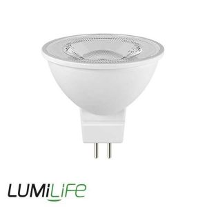 LUMILIFE 6.5W MR16 LED SPOTLIGHT - 520 LUMEN - WARM WHITE
