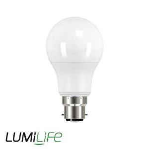 LUMILIFE 6W B22 (BC) GLS LED - 500 Lumen - Warm White (2700K) - Dimmable