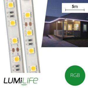 LUMILIFE 72W LED STRIP LIGHT - 5M - WATERPROOF (IP67) - RGB