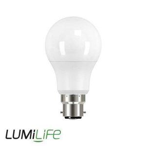 LUMILIFE 8.2W B22 (BC) GLS LED - 806 LUMEN - COOL WHITE