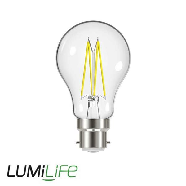 LUMILIFE 9W B22 (BC) GLS Filament LED - 1060 Lumen - Cool White (4000K) - Dimmable