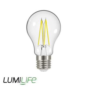 LUMILIFE 9W E27 (ES) GLS Filament LED - 1060 Lumen - Cool White (4000K) - Dimmable
