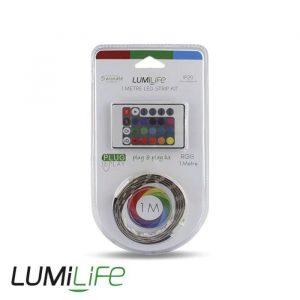 LUMILIFE LED FLEXI STRIP KIT - 1M - NON-WATERPROOF - COLOUR CHANGING