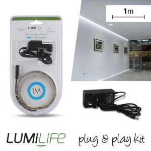 LUMILIFE LED FLEXI STRIP KIT - 1M - NON-WATERPROOF - COOL WHITE