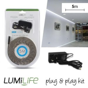 LUMILIFE LED FLEXI STRIP KIT - 5M - NON-WATERPROOF - COOL WHITE