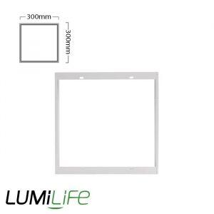 LUMILIFE LED PANEL SURFACE MOUNTING FRAME - 300 x 300 - SELF-ASSEMBLE
