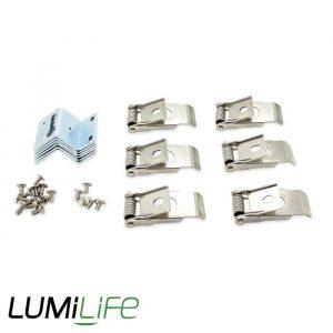 LUMILIFE SPRING CLIP SET FOR LED PANELS X 6
